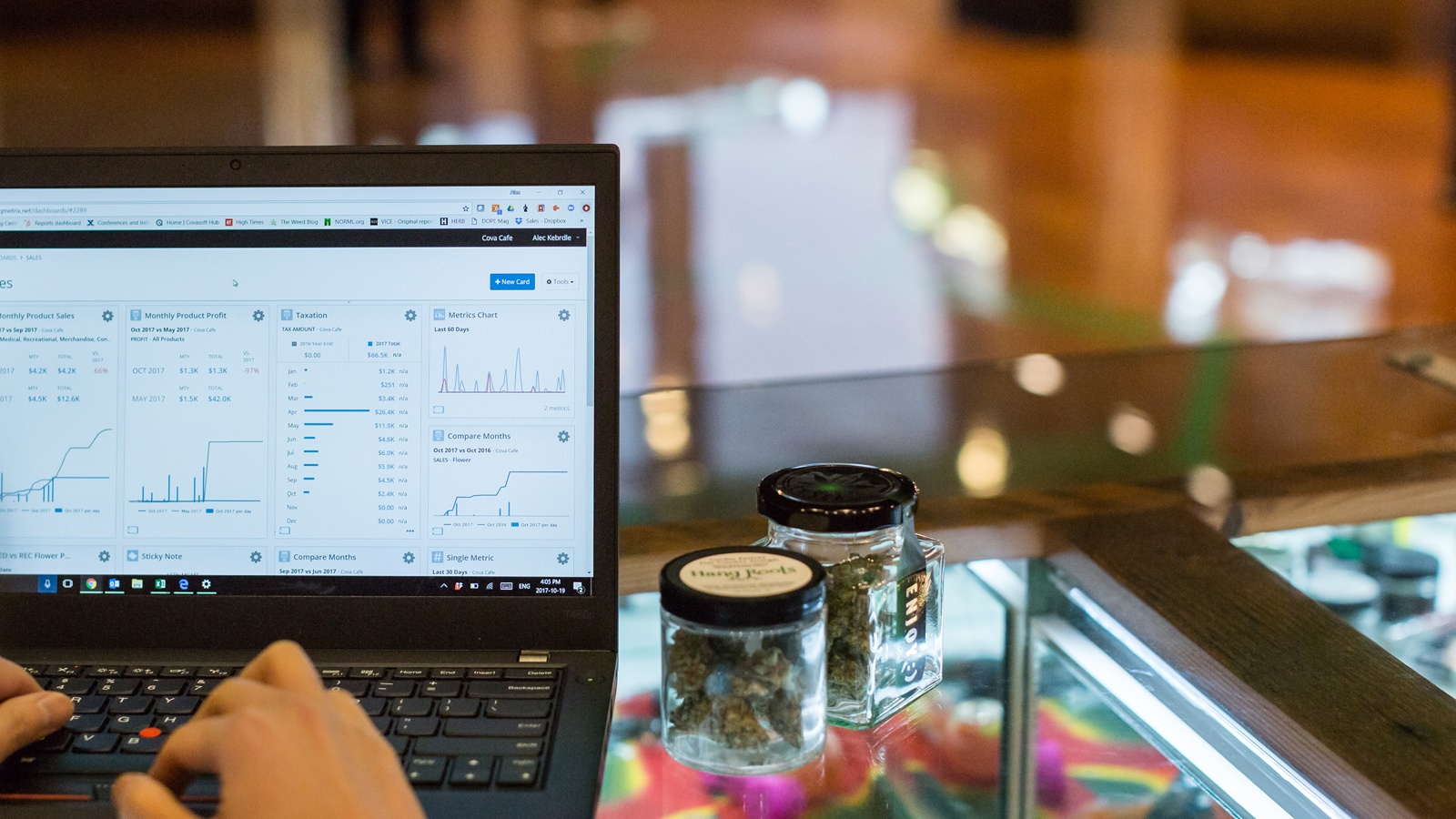 cannabis dispensary POS reporting features