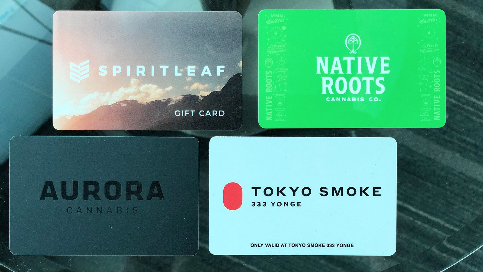 Gift cards for marijuana store