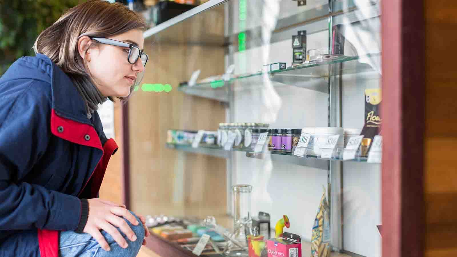Customer at a licensed cannabis dispensary