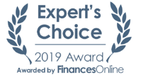 Expert's Choice Awarded by FinancesOnline