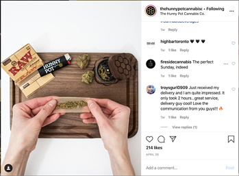The Hunny Pot Cannabis Co on Instagram