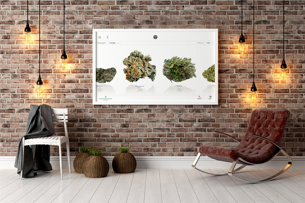 dispensary touchscreen menus